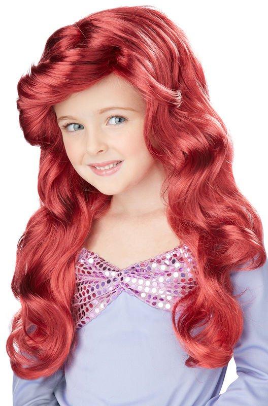 Girls Red Ariel Little Mermaid Wig Kids Costume Accessory