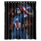 Captain America Avenger Marvel Superhero Design 2 Shower Curtain