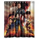 Captain America Avengers Superhero Design 1 Shower Curtain