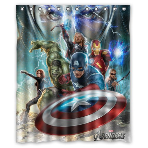 Captain America Avenger Superhero Design 3 Shower Curtain