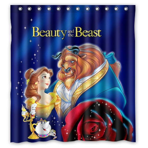 Beauty and the Beast Design 2 Shower Curtain 2 Size options