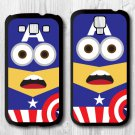 Minion Captain America Phone cover for Samsung Galaxy S3,S4