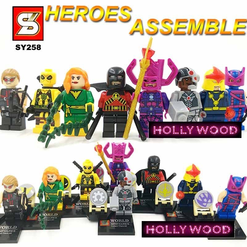 Superhero DC MARVEL 8pc Mini Figures Building Blocks Minifigures Block Build Set 1