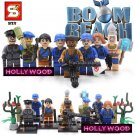 Boom Beach 8pc Mini Figures Building Blocks Minifigures Block Build Set