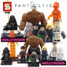 Fantastic 4 8pc Mini Figures Building Blocks Minifigures Block Build Set 2