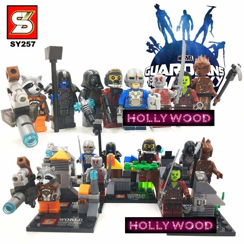 Guardians of the Galaxy 8pc Mini Figures Building Blocks Minifigures Block Build Set