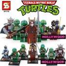 Teenage Mutant Ninja Turtles 8pc Mini Figures Building Blocks Minifigures Block Build Set