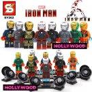 Iron Man Marvel 8pc Mini Figures Building Blocks Minifigures Block Build Set
