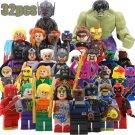 Superhero DC Marvel 32pc Mini Figures Building Blocks Minifigures Block Build Set 3 Wonder Woman Thor Joker