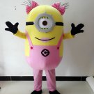 Pink Minion Girl Adult Character Mascot Costume Despicable me