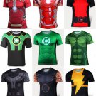 Marvel Superhero Sport Shirt 9 Choices Hulk Ironman Green Lantern Thor Wolverine SALE
