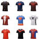 Marvel Superhero Compressed fitting shirts 9 Choices Superman Spiderman Flash Red SALE