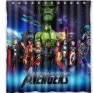 Avengers All Shower Curtain Anime Cartoon Marvel Hollywood Design