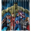 Avengers Team Shower Curtain Anime Cartoon Marvel Hollywood Design Captain America Ironman Thor Hulk