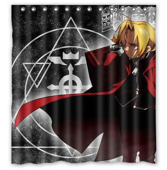 Fullmetal Alchemist Shower Curtain Anime Cartoon Hollywood Designs