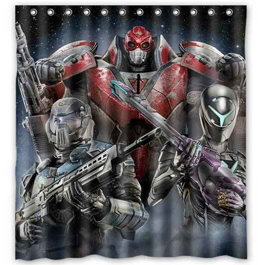 Planetside Shower Curtain Anime Cartoon Hollywood Designs