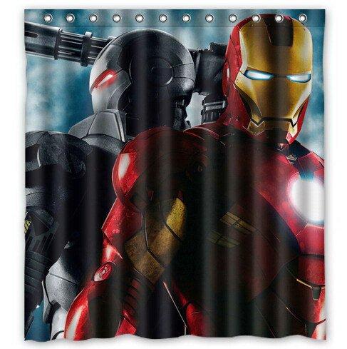 Ironman Shower Curtain Anime Cartoon Marvel Hollywood Design 2