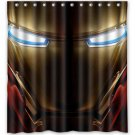 Ironman  Helmet Shower Curtain Anime Avengers Marvel Hollywood Design 2