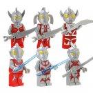 Ultraman Comic 8pc Mini Figures Building Blocks Minifigures Block Build Set Featured