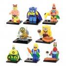 Spongebob 8pc Mini Figures Building Blocks Minifigures Block Build Set Featured