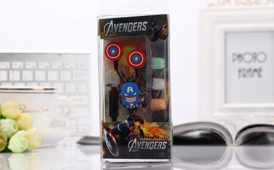 Superhero Captain America Avengers Earphones Set Marvel Superhero 3.5MM $2 Ship