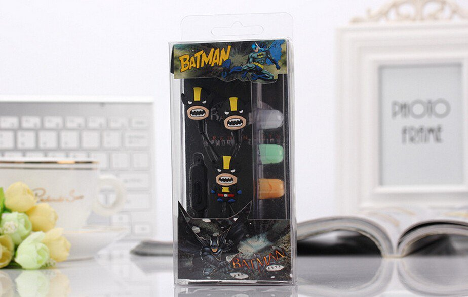 Wolverine Avengers Earphones Set Marvel Superhero 3.5MM Epacket