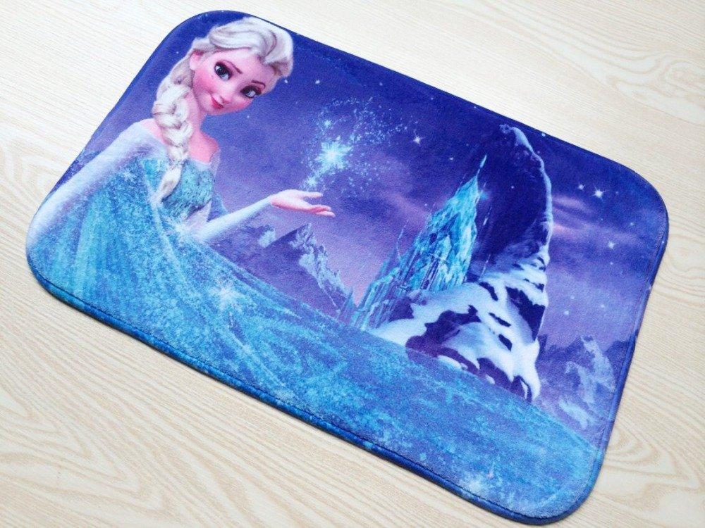 Frozen Elsa Snow Princess Bath Mat Accent Rug for Bath Bedroom Living Room