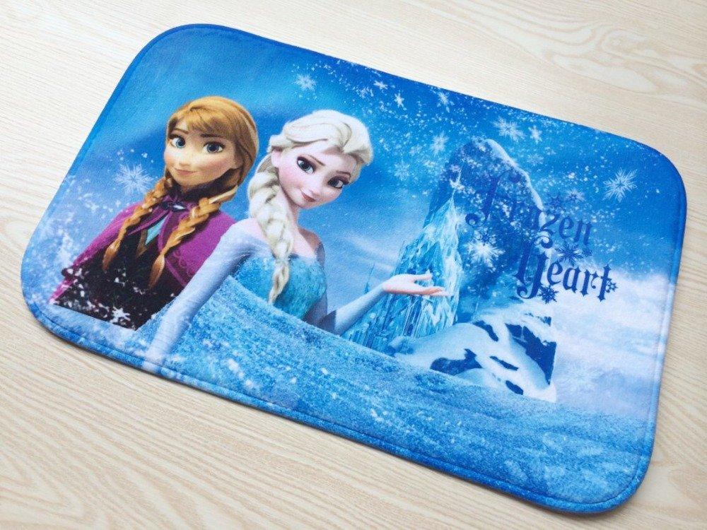 Frozen Elsa Anna Snow Princess Bath Mat Accent Rug for Bath Bedroom Living Room