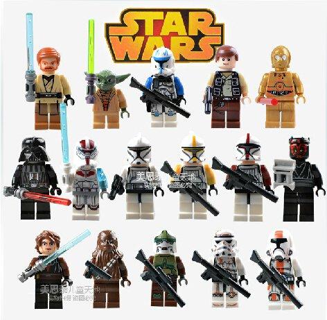 Star Wars Classic 16pc Mini Figures for Building Blocks Minifigures Block Build on SALE