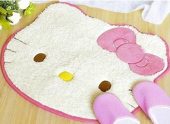 Hello Kitty Bath Mat Character Rug for Bath Bedroom Living Room- SALE
