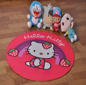 Hello Kitty Accent Bedroom Round Carpet, Bath or Door Mat -NEW