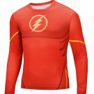Flash Compressed Superhero Long Sleeve Shirt Marvel Small to 6XL SALE $15