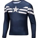 Captain America Avenger Compressed Superhero Long Sleeve Shirt Marvel Small to 6XL SALE $15