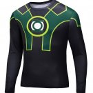 Green Lantern Avenger Classic Compressed Superhero Long Sleeve Shirt Marvel Small to 6XL SALE $15