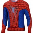 Spiderman Classic Compressed Superhero Long Sleeve Shirt Marvel Small to 6XL SALE $15