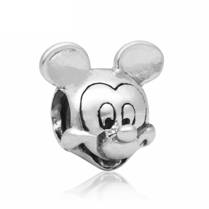 Mickey Mouse Head Silver Pendant Charm for Pandora Bracelet $1 Shipping