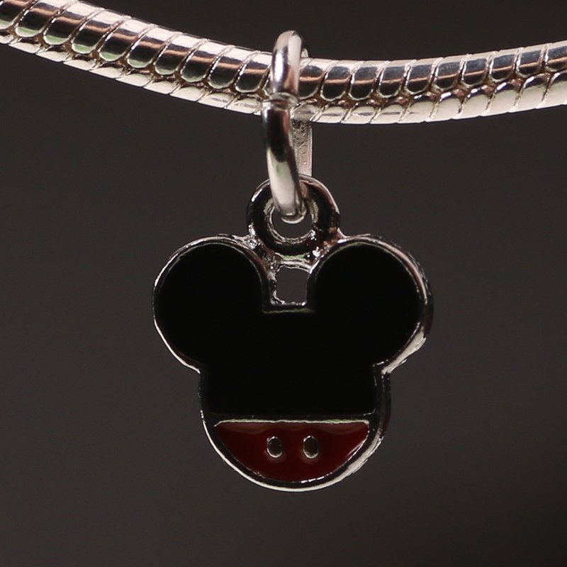 Mickey Mouse Design Silver Pendant Charm for Pandora Bracelet $1 Shipping
