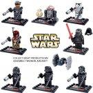 Star Wars The Force Awakens 8pc Mini Figures Building Blocks Minifigures Block R2D2 Kylo Ren NEW EDITION