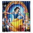 "Princess Snow White and the seven dwarfs Shower Curtain Custom Hollywood Designs 66""x72"""