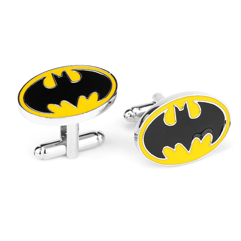 Batman Emblem Enamel Cufflinks Marvel DC Superhero Pair / Set