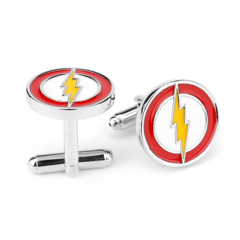 The Flash Enamel Cufflinks Marvel DC Superhero Pair / Set