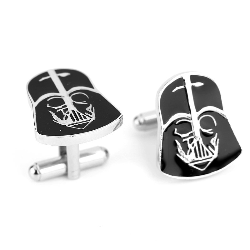 Darth Vader Enamel Cufflinks Star Wars Pair / Set