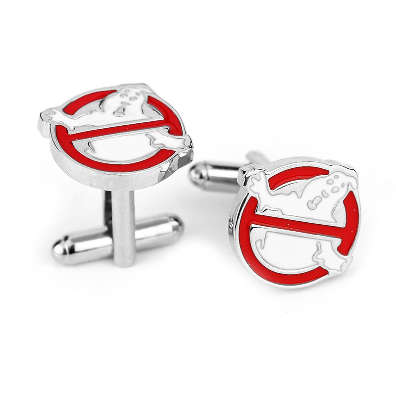 Ghost Busters Enamel Cufflinks Movie Cuff Links Pair / Set NEW ARRIVAL