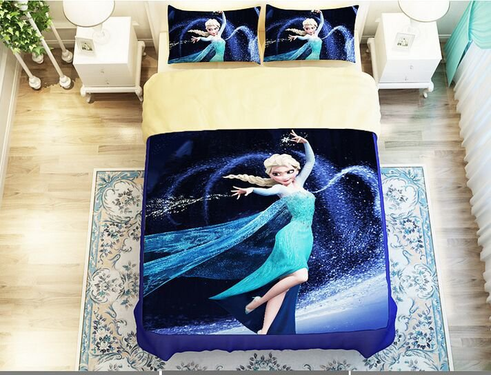 Frozen Elsa Snow Princess 5pc Comforter Bedding Set 3szs SALE