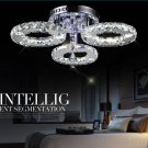 Elegant Circle Diamond Crystal Chandelier Modern Home Decor