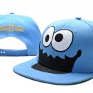 Cookie Monster Baseball Cap hat Snapback Sesame Street Adult Blue -NEW
