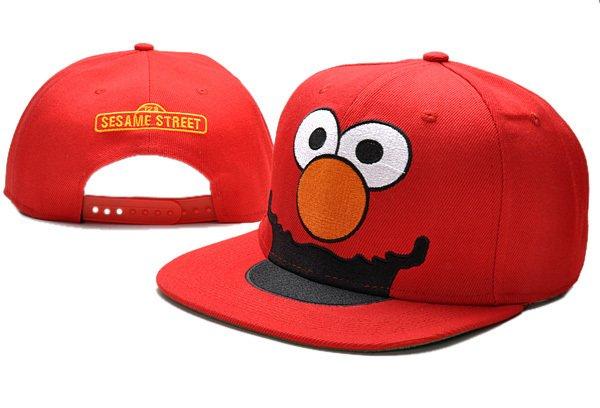 Elmo Baseball Cap hat Snapback Sesame Street Adult Blue -NEW