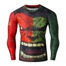 Hulk Double Hulk Compressed Superhero Long Sleeve Shirt Marvel DC M TO XXL NEW