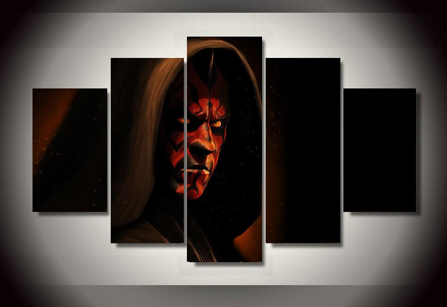 Star Wars Movie Samurai 5pc Wall Decor Framed Oil Painting