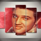 Elvis Presley 5pc Wall Decor Framed Oil Painting Hollywood Icon Music Artist